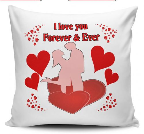 I Love You Forever & Ever Novelty Cushion Cover + Insert (1)